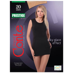 Conte Women's Classic Sheer Black Pantyhose Tights  - Prestige 20 Denier