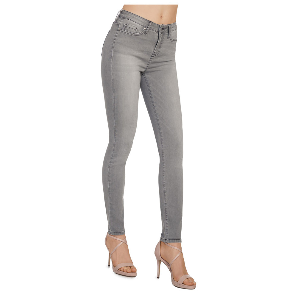 Conte elegant Women's Sexy Skinny Light Grey Cotton Jeans