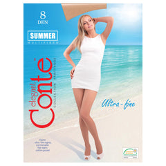 Conte Summer Women's Ultra Sheer Shade Nude Pantyhose 8 Denier