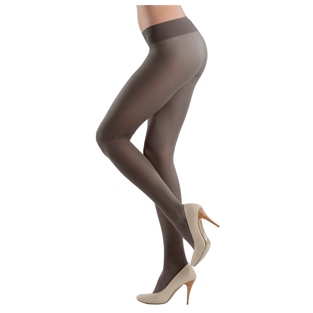 Conte Women's Soft Top Low Waist Black Pantyhose Tights