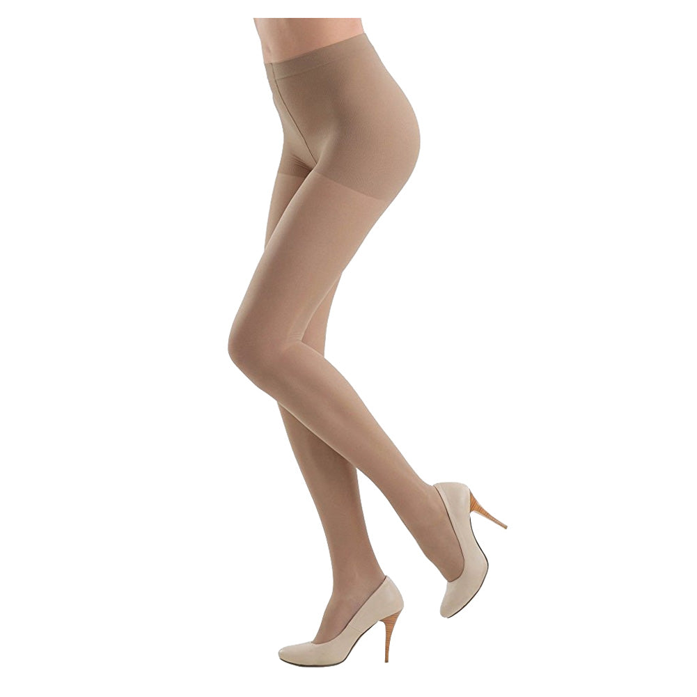 Conte Women's Nude Support Tights with a Moderate Compression and Reinforced Shorts - Active Soft 40 Denier