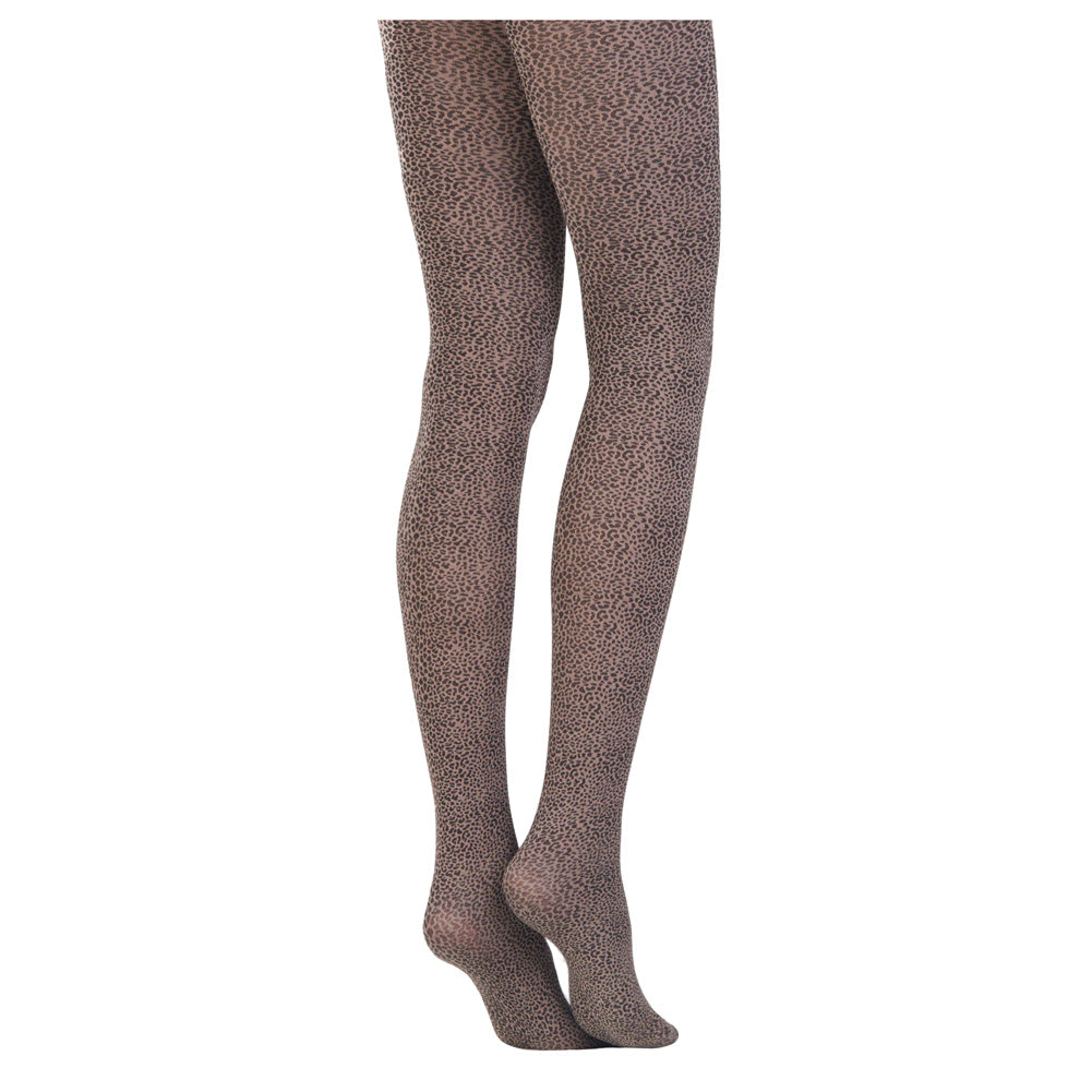 Conte Women's Semi Opaque Pantyhose Tights with Leopard Print Leopardo (Cacao)