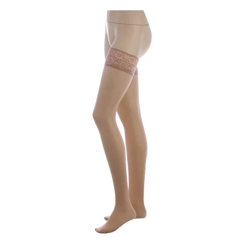 Conte Women's Thigh High Self- Supported Natural Stockings, Class 40 Denier