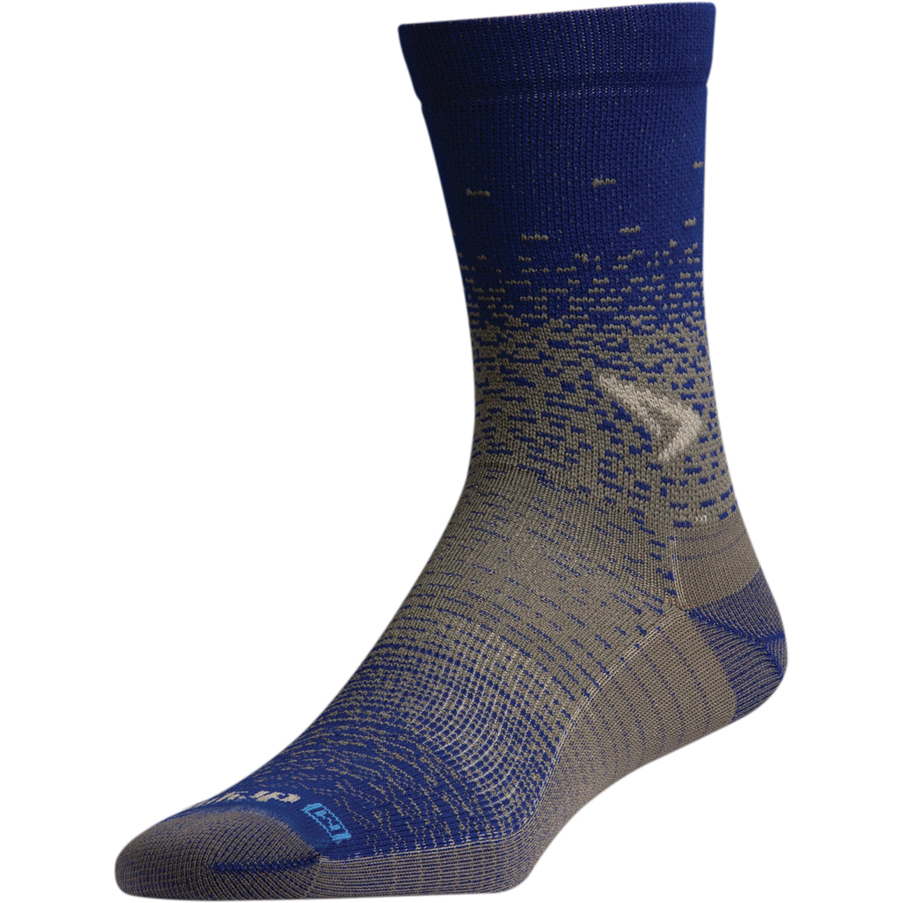 DRYMAX Thin Unisex Crew Royal/Anthracite Running Socks (DMX-RUN-1378-P)