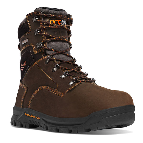 DANNER 12447 Mens Crafter 8in Brown 600G NMT Work Boots