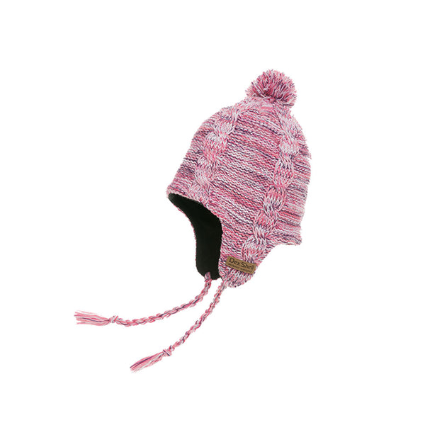 DEXSHELL Earflap Orchid Heather Beanie (DH392-OH)