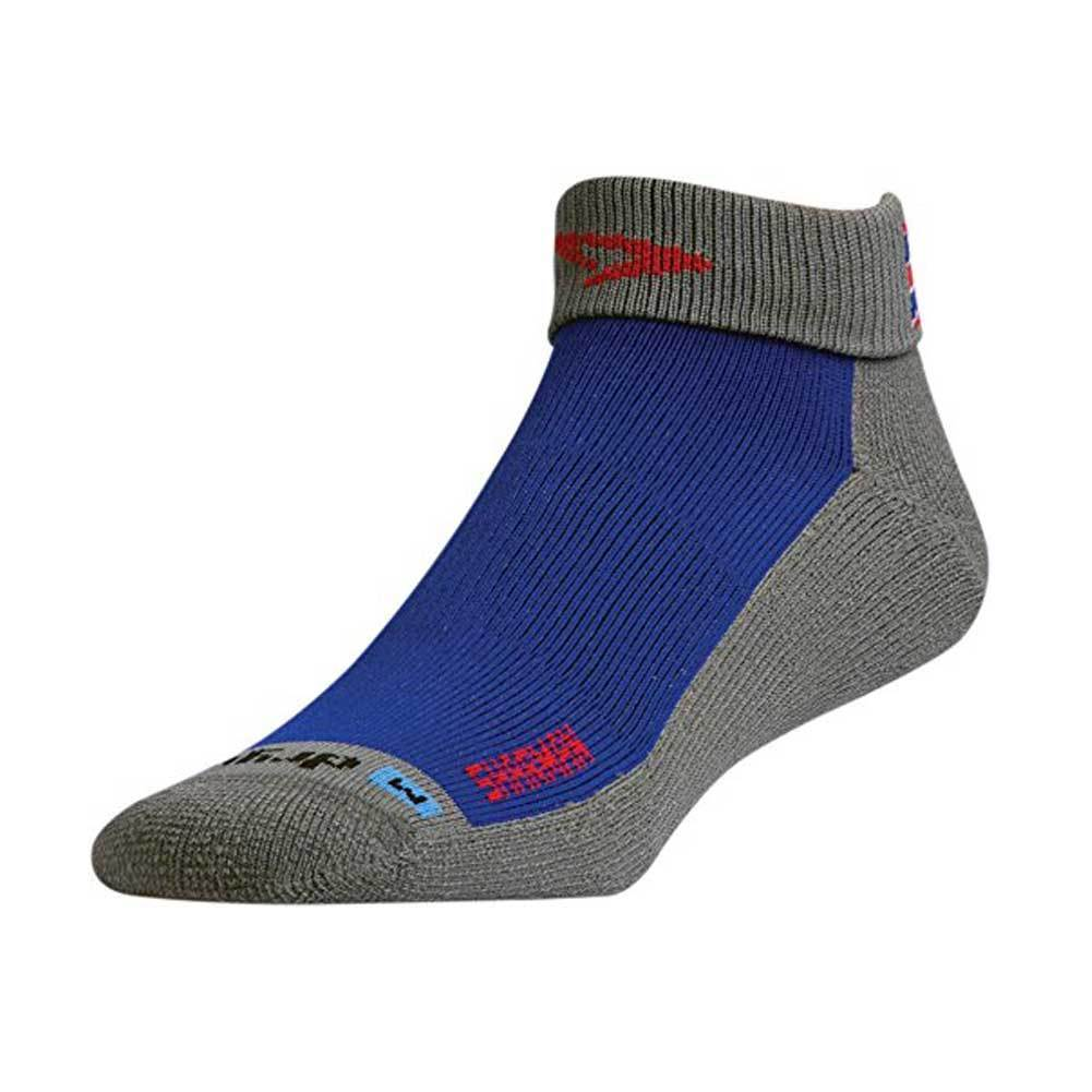 DRYMAX Max Pro Trail Running 1/4 Crew Turn Down Royal/Red/Anthracite Socks (DMX-RUN-1216-P)