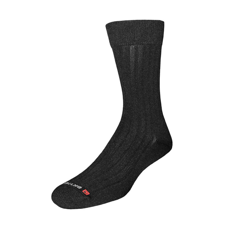 DRYMAX Dress Black Crew Socks (DMX-DRS-5002)