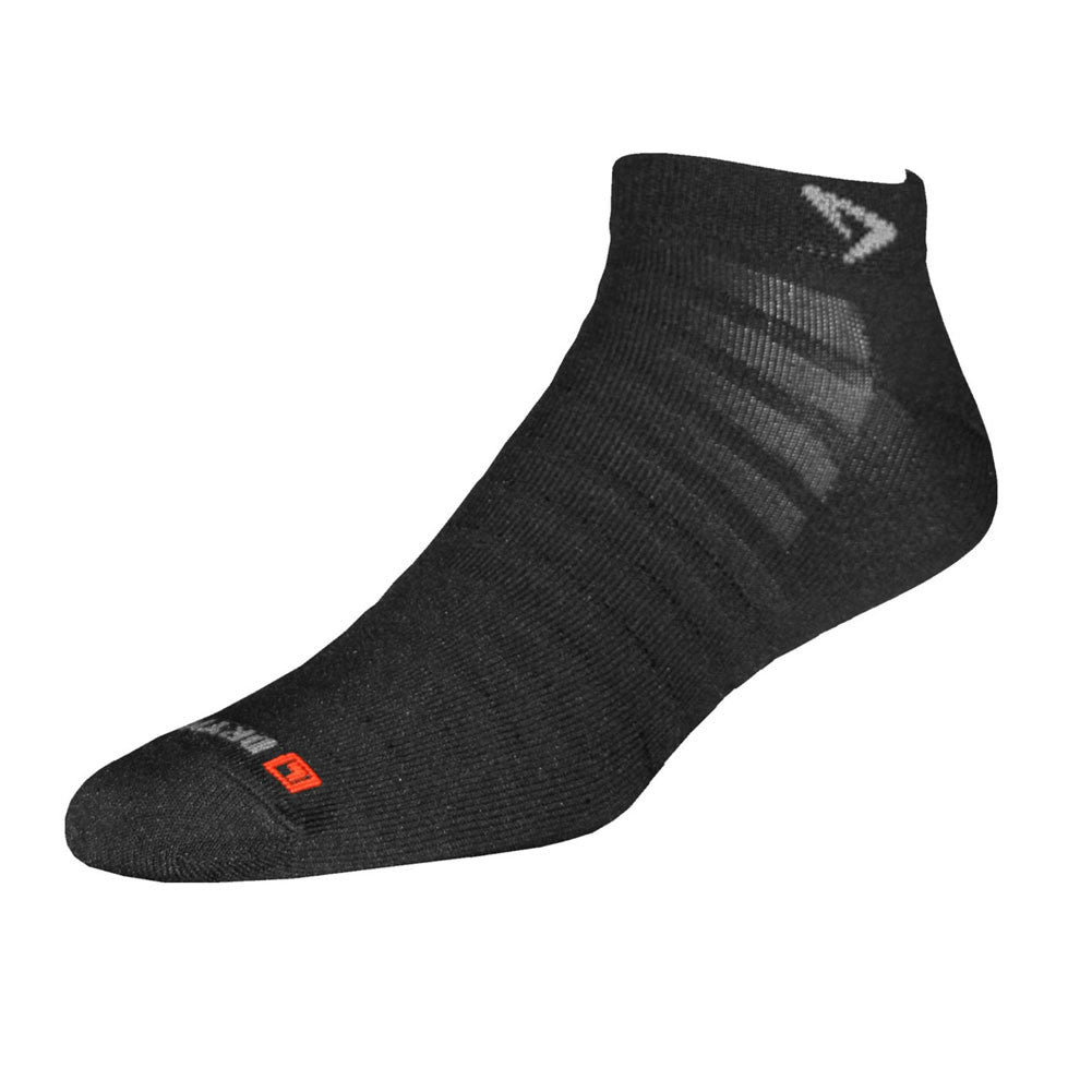 DRYMAX Hyper Thin Running Black Mini Crew Socks (DMX-RUN-1235)