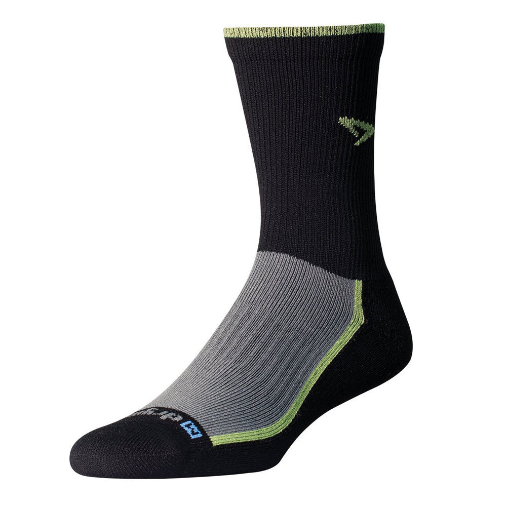 DRYMAX Trail Running Gray and Green  Crew Socks (DMX-RUN-1288)