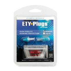 ETYMOTIC RESEARCH ETY Plug Standard Clear Blue Earplugs In Clamshell (ER20-SMB-C)