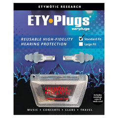 ETYMOTIC RESEARCH ETY Plug Standard Clear Frost Earplugs In Clamshell (ER20-SMF-C)