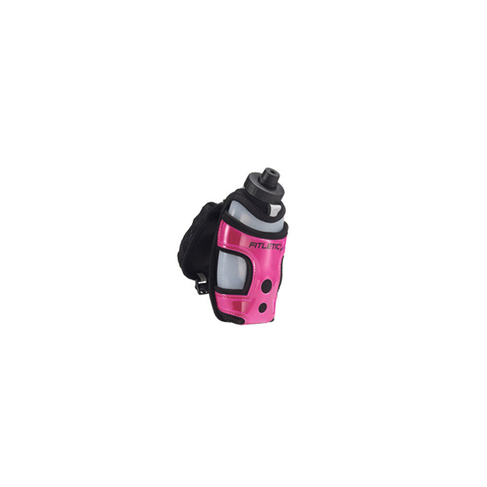 FITLETIC Black-Pink Handheld with Pocket (HH12-08)