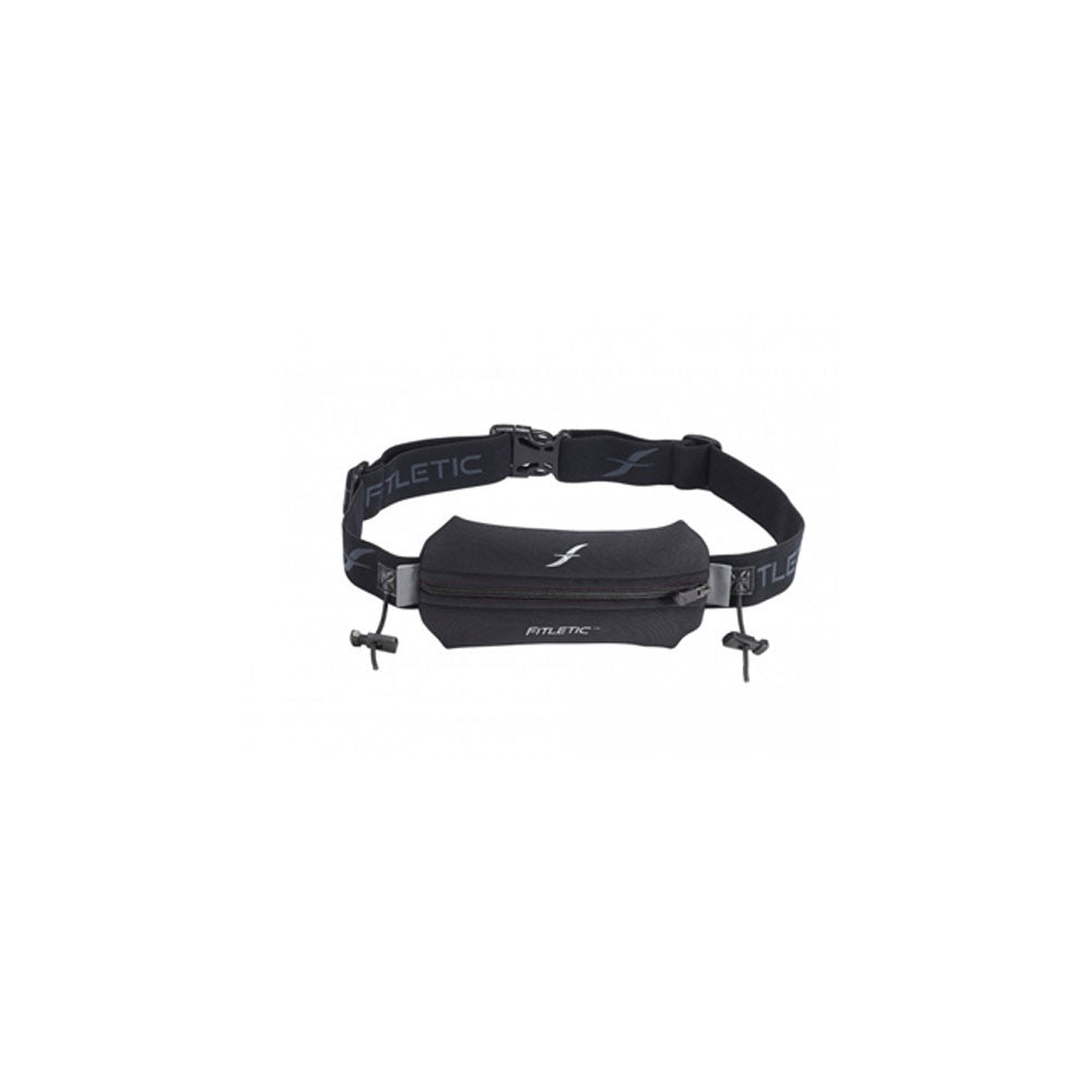 FITLETIC NEO Black Racing Pouch with Race Bib Holders (N01R-01)