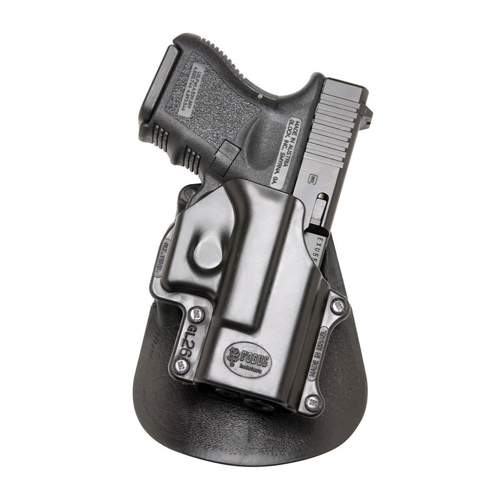 FOBUS Glock 26,27,28,33 Right Hand Paddle Holster (GL26ND)