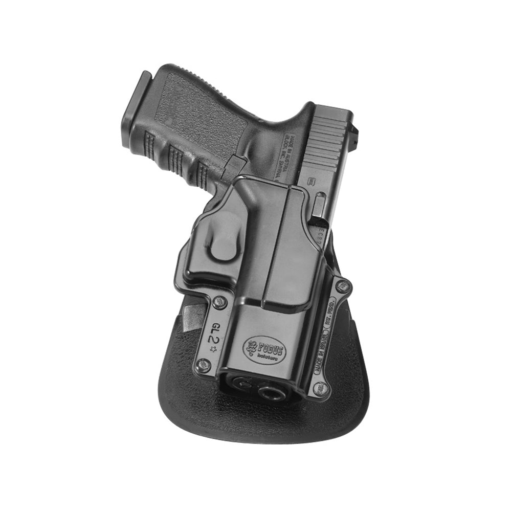 FOBUS Glock 17,19,22,23,31,32,34,35,Walther PK 380 Right Hand Evolution Paddle Holster (GL2E2)
