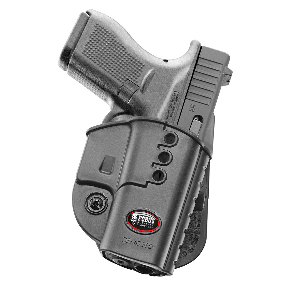 FOBUS Glock 43 Right Hand Evolution Paddle Holster (GL43ND)