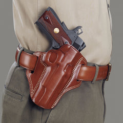 GALCO Combat Master Colt 3.5in 1911 Right Hand Leather Belt Holster (CM218)