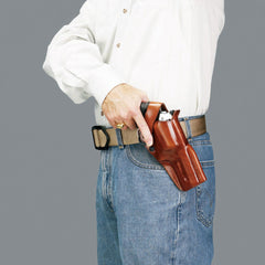 GALCO Dual Action Outdoorsman Taurus Judge 3in with 2.5in Cylinder Right Hand Leather Belt Holster (DAO196)