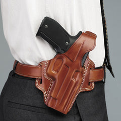 GALCO Fletch High Ride Colt 3in 1911 Right Hand Leather Belt Holster (FL424)