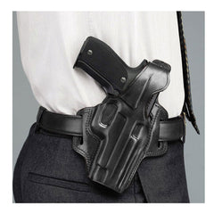 GALCO Fletch High Ride FN Five-seveN USG Right Hand Leather Belt Holster (FL458B)