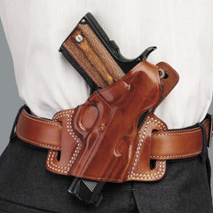 GALCO Silhouette High Ride Colt 5in 1911 Right Hand Leather Belt Holster (SIL212)