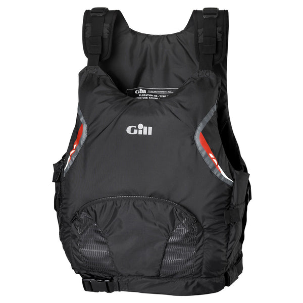 GILL USCG PFD Side Zip Black Vest (4913B)