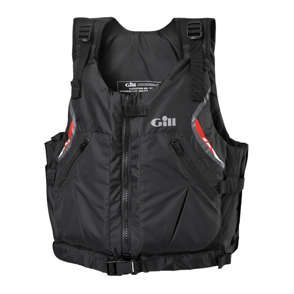 GILL USCG Approved Black Front Zip PFD (4918B)