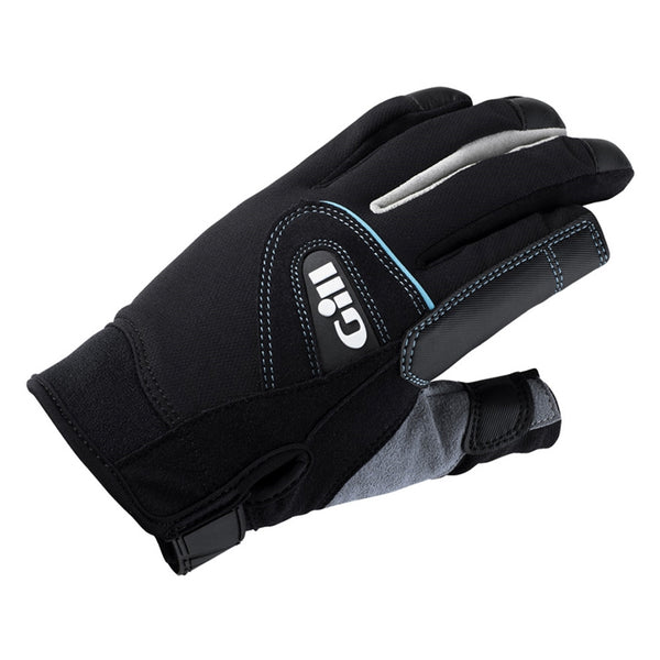 GILL Womens Championship Long Finger Black Gloves (7262WB)