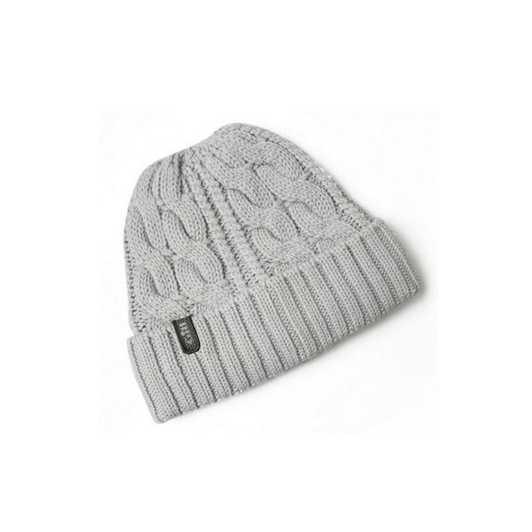 GILL Grey Cable Knit Beanie (HT32MG)