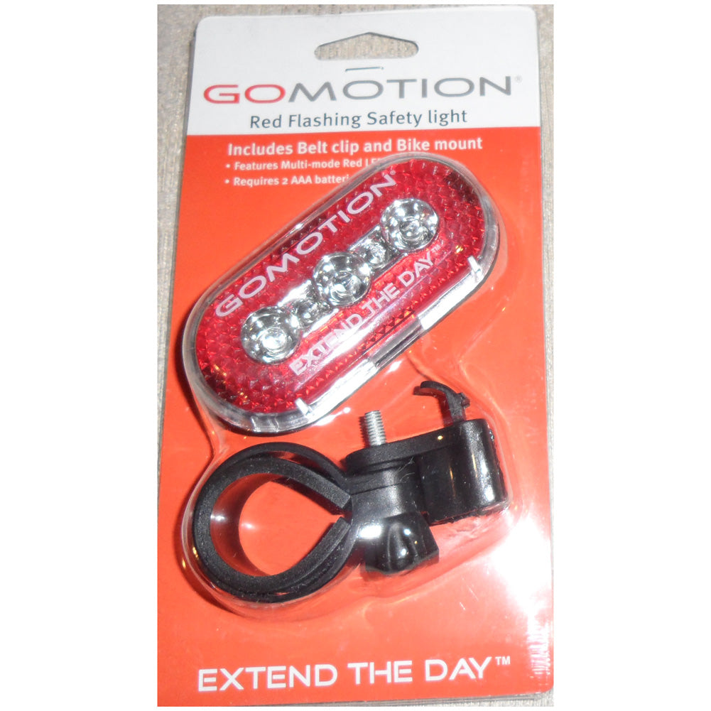 GOMOTION CLIPLITE Red Flashing Safety Light