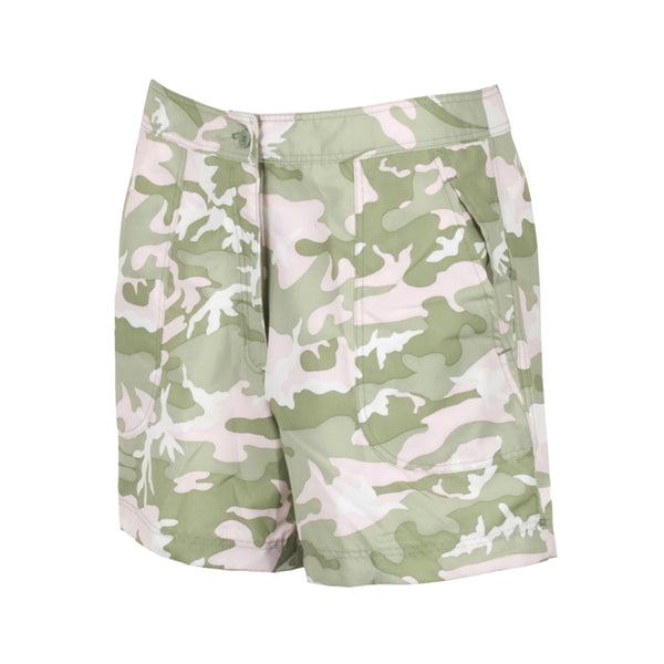 GUY HARVEY Womens Pink Camo Fishing Short (LH34005-PCAM)
