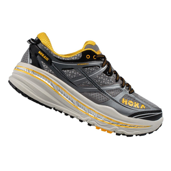 HOKA ONE ONE Stinson 3 Atr Grey, Gold Fusion Trail Running Shoes (1008326-GGFS)