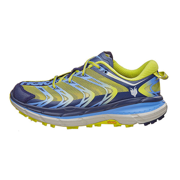 HOKA ONE ONE Speedgoat Medieval Blue, Green Glow Trail Running Shoes (1009681-MBGG)