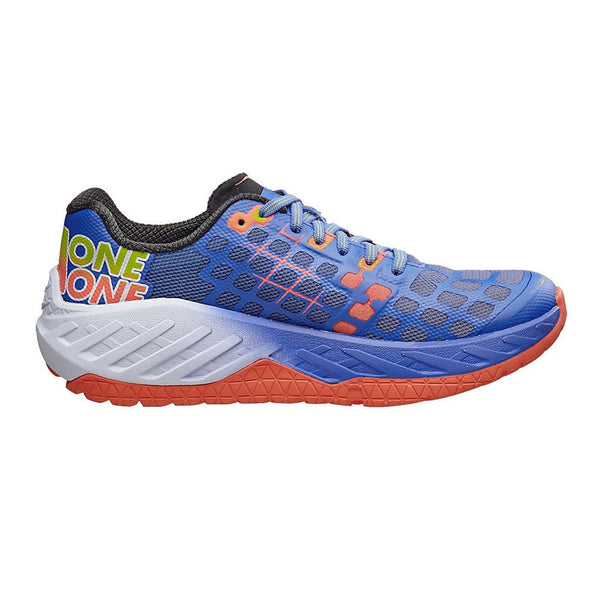 HOKA ONE ONE Clayton Ultramarine, Neon Coral Road Running Shoes (1012277-UNCR)