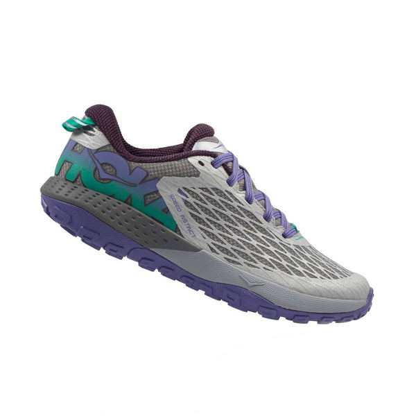 HOKA ONE ONE Speed Instinct Grey, Corsican Blue Trail Running Shoes (1012560-GCNB)