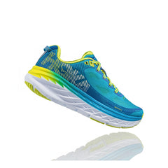 HOKA ONE ONE Bondi 5 Blue Jewel, Acid Road Running Shoes (1014759-BJAC)