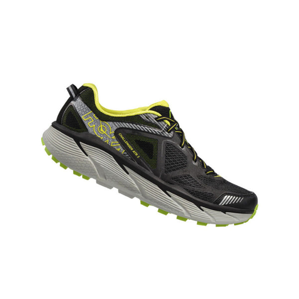 HOKA ONE ONE 1014761-BBGC Challenger Atr 3 Black, Bright Green, Citrus Trail Running Shoes