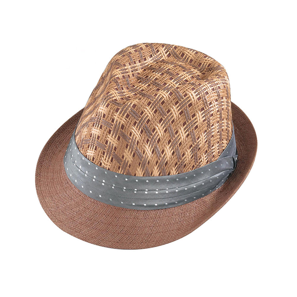 HENSCHEL HATS 320981-BRN Brown Fedora-Paperstraw