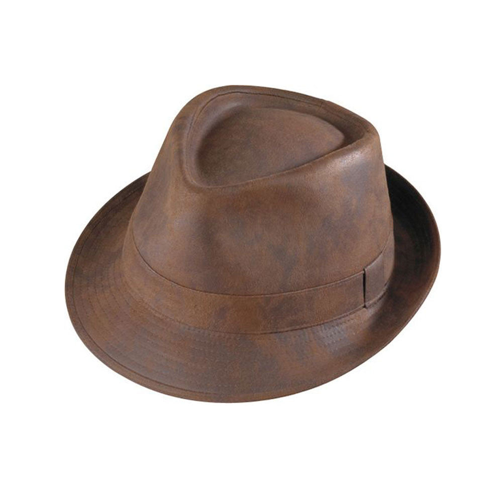 HENSCHEL HATS Rust Distress Fedora (440541-RUDISTR)