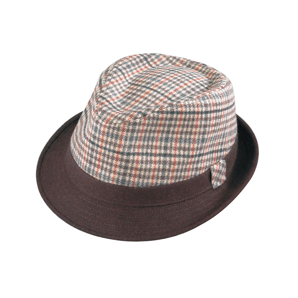 HENSCHEL HATS 441881-BRN Brown Fedora