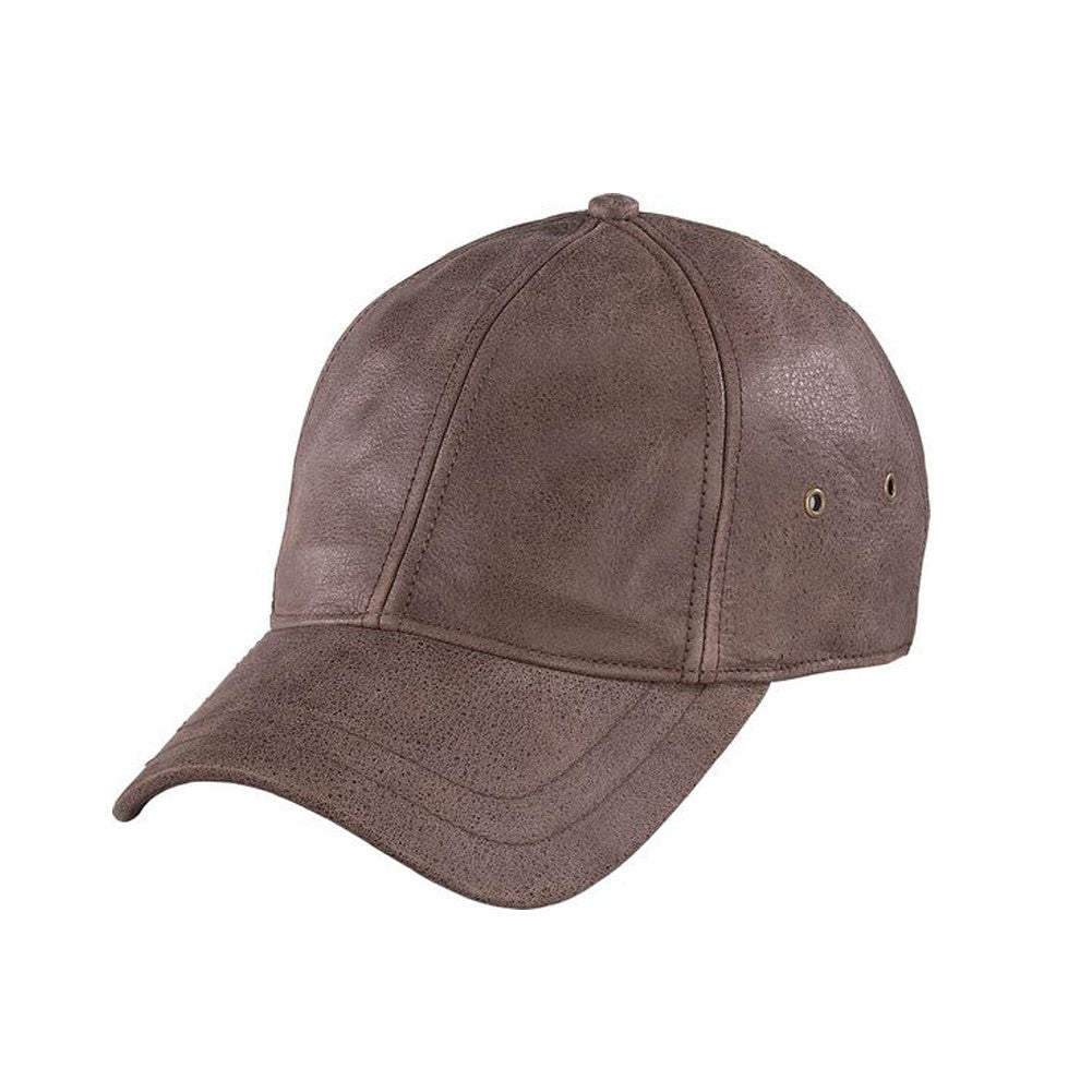 HENSCHEL HATS 681341 Brown Distress Baseball Cap