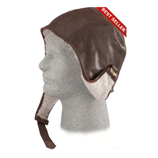 HENSCHEL HATS 747041-BRNDIST Brown Distress Lined Helmet