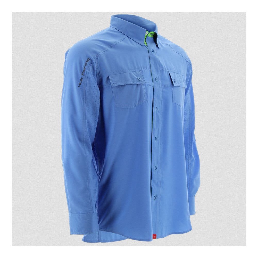 HUK Carolina Blue Long Sleeve Next Level Shirt (H1500004CBL)