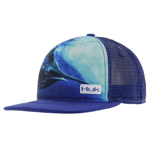 3056e66f51c HUK 269S KC Scott Northdrop Flat Bill OSFA Dark Blue Cap (H3000032DBL1)