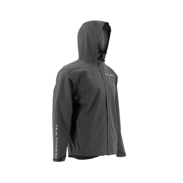 HUK Charcoal Gray Packable Rain Jacket (H4000015-010)