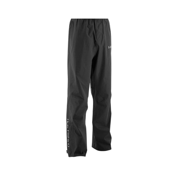 HUK H4000016BLK Black Packable Rain Pant