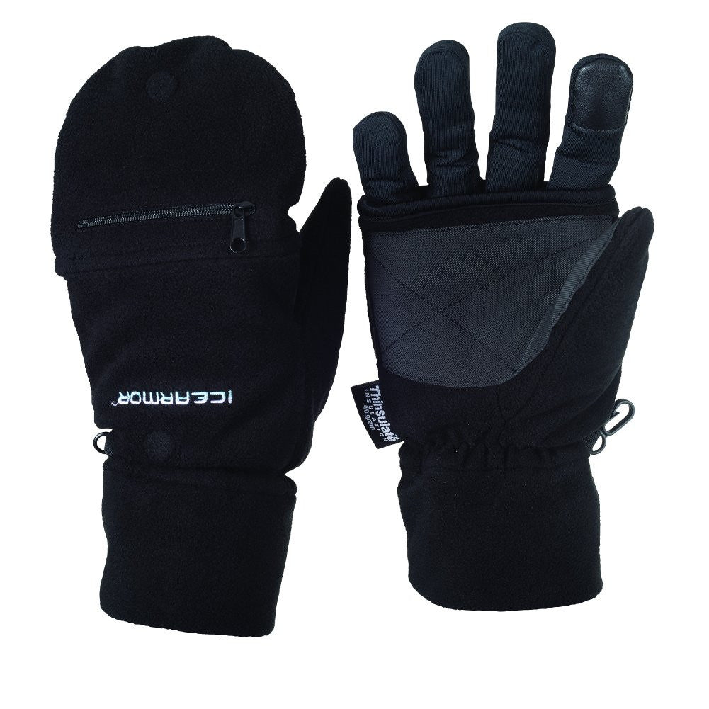 ICE ARMOR 109772-9772 Deluxe Black Fold-Back Mitts