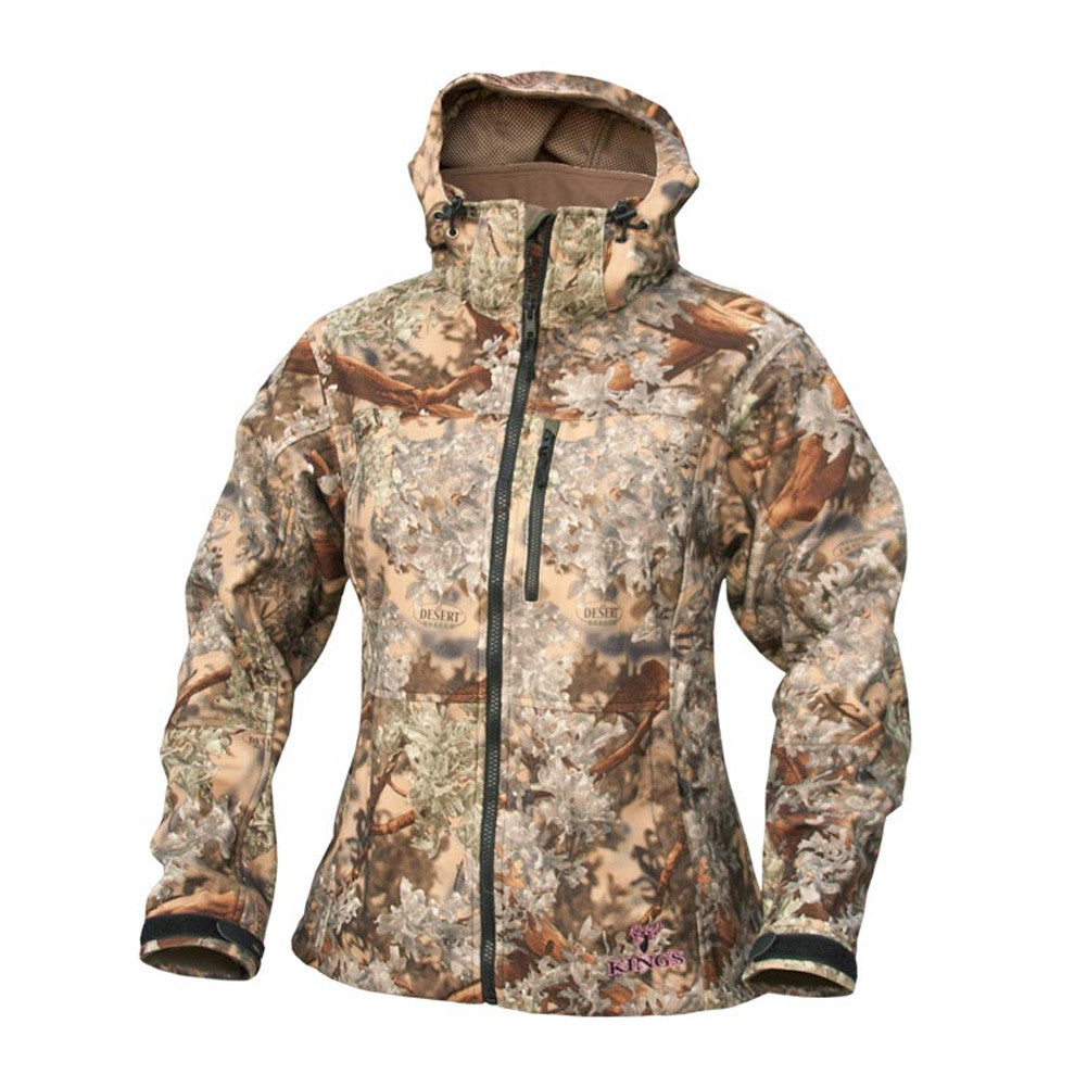 KINGS CAMO KCL2150-DS Desert Shadow Ladies Wind-Defender Fleece Jacket