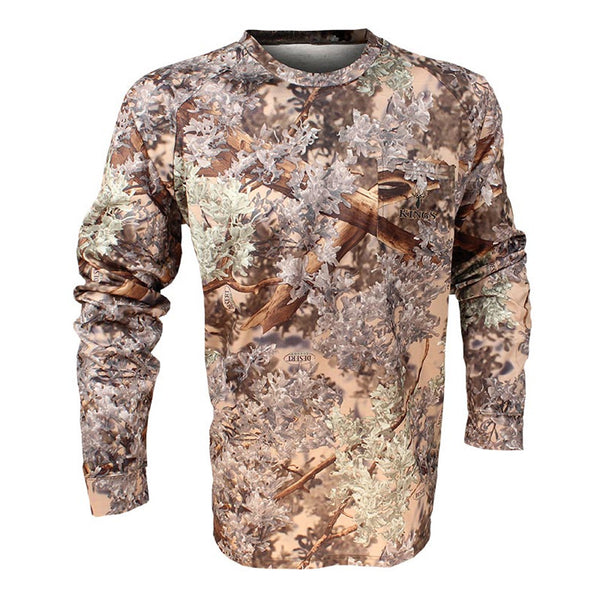 KINGS CAMO Desert Shadow Long Sleeve Hunter T-Shirt (KCM1087-DS)